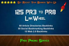 skyROCKET your website with 125 PR3 to PR8 seo linkwheel for $5