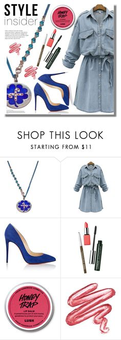 """""""Macadamia Jewels"""" by edita-n ❤ liked on Polyvore featuring WithChic, Christian Louboutin, Clinique and Lime Crime"""