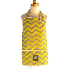 Kids Art Smock, Aprons, Art Smock For School Online Australia Kids Art Smock, Yellow Chevron, Modern Family, Smocking, Art For Kids, Apron, Arts And Crafts, Nursery, Stylish