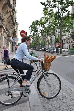 Old Bikes, Fresh Baguettes - Only in Paris.