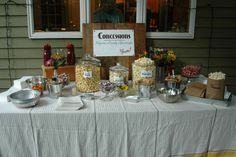 backyard movie night: The concession stand