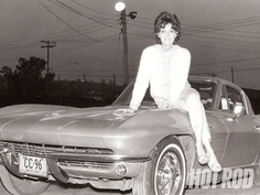 """Shirley Muldowney (born June 1940 in Burlington, Vermont ), also known professionally as """"Cha Cha"""" and the """"First Lady of Drag Racing"""", is an American pioneer in professional auto racing. Old Corvette, Chevrolet Corvette, Shirley Muldowney, Transporter, Top Funny, Car Humor, Drag Racing, Auto Racing, Black And White Pictures"""