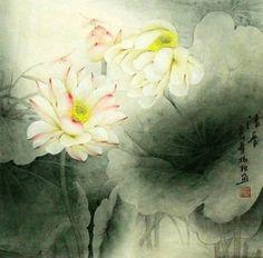 Chinese Painting: Lotus - Chinese Painting CNAG234777 - Artisoo.com