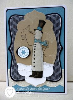 White House Stamping: Dynamic Snowman...