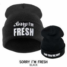 d202c69e16c Sorry I m FRESH Hiphop Mens Beanie Hat for Women Beanies Letter Cap Ladies  Winter Hats Toucas De Inverno Gorros Bonnets-in Skullies   Beanies from  Men s ...