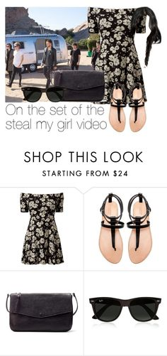 """On the set of the steal my girl video"" by style-with-one-direction ❤ liked on Polyvore featuring Zara, Ray-Ban and one direction 1d niall horan zayn malik liam payne louis tomlinson harry styles"