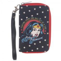 Wonder Woman Full Zip Around Wallet Cell Phone Holder With Wrist Strap DC Comics #DCComics #ZipAround
