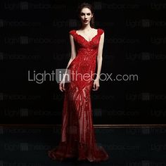Formal Evening Dress - Ruby Petite Ball Gown Straps Sweep/Brush Train Lace / Tulle - GBP £244.99