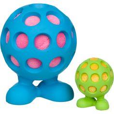 """""""JW Pet Hol-ee Cuz Squeaky"""" - Trous pour une bonne prise - 6$ -  -L'intérieur peluche douce cache pouet -Ces jouets durables sont façonnés de caoutchouc résistant à paroi épaisse et fini avec un cri de longue haleine"""