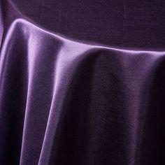 Purple Satin Tablecloth