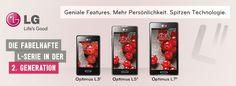Die zweite Generation der L Serie bietet Nutzern eine einzigartige User Experience. Die Geräte verfügen über praktische Features wie QuickMemo 2.0, Quick Button und Safety Care und liegen dank der schlanken Form gut in der Hand. Nutzer können außerdem die LED-Beleuchtung des Home Buttons, die über verpasste Nachrichten oder Anrufe informiert, auf ihre individuellen Farbwünsche einstellen. Form, Smartphone, Inspiration, Technology, Telephone Call, Pool Chairs, Messages, Slim, Biblical Inspiration