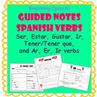 tpt - Guided notes - Present Tense Verbs - Beginning Spanish