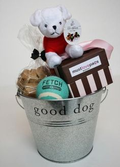 Good DOG! Gift Basket with Rescues Toy!