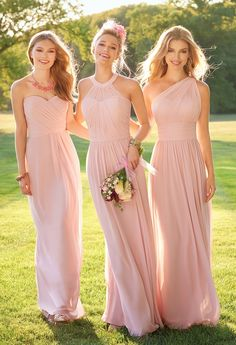 One shoulder Pink A-Line Prom Dresses ,Long Chiffon Bridesmaid Gown JJB 3351 dresses Country Style Bridesmaid Dresses, Elegant Bridesmaid Dresses, Bridal Party Dresses, Wedding Dresses, Prom Dresses, Blush Bridesmaid Dresses Long, Evening Dresses, Bride Dresses, Pale Pink Bridesmaids