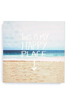 Free shipping and returns on DENY Designs 'Leah Flores - This Is My Happy Place' Canvas Wall Art at Nordstrom.com. If blue ocean waves and soft white sands leave you feeling placid, then this original piece of artwork is just the thing to bring a laid-back vibe to your living room. Printed with UV-resistant archival inks, each canvas is individually trimmed and professionally stretched for a gallery-quality look.