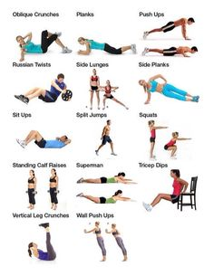 Ab exercises with pictures