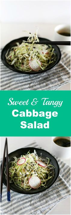 Lower Excess Fat Rooster Recipes That Basically Prime Sweet And Tangy Cabbage Salad Made In A Korean Way Crunchy And Delicious Via Mykoreankitchen Korean Side Dishes, Main Dishes, Healthy Salad Recipes, Snack Recipes, Keto Recipes, Healthy Food, Snacks, Cabbage Side Dish, Korean Kitchen