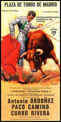 Bullfighting  Plaza De Toros De Madrid 1 Canvas Art by VinylzArt: