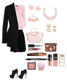 """Blush Night!"" by minadinamike on Polyvore featuring Brunello Cucinelli, Giuseppe Zanotti, Dettagli, Forever 21, Polo Ralph Lauren, Givenchy, Ted Baker, Maybelline, Rimmel and Too Faced Cosmetics"