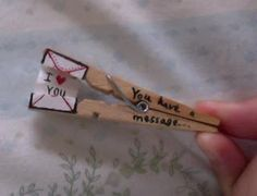 A Day in the Life...: Clothespin Message