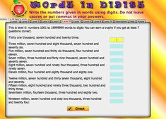 Words in Digits Integers, Place Values, Student, Writing, This Or That Questions, Words, Day, Being A Writer, Horse