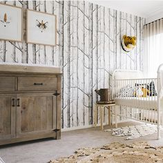 Sophisticated, rustic woodland nursery.                                                                                                                                                                                 More