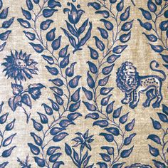 Elizabeth Benefield Fabric : Isis Linen Blue {bathroom shades?}
