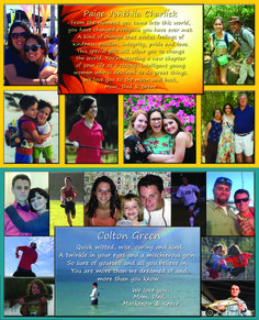 2015 Student created Senior  Yearbook Ad for Pasco High School Yearbook. 2 half page ads.