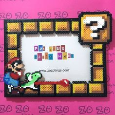 Mario photo frame hama beads by Zo Zo Tings