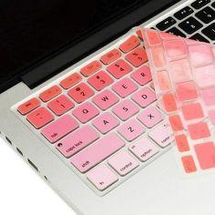 Macbook Ultra-Thin Keyboard Cover - Faded Ombre Red (US keyboard) Macbook Desktop, Apple Laptop Macbook, Macbook Air Stickers, Hp Laptop Skin, New Macbook, Washi Tape Keyboard, Keyboard Piano, Macbook Pro Tips, Macbook Pro Cover