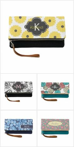 Personalized Fold Over Clutches All In One, Color Patterns, Your Favorite, Clutches, Florals, Create Yourself, Feminine, Monogram, Collections