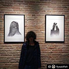 Empezamos semana compartiendo el trabajo de Alexandra Sternin. Impresiones #fineart #giclée en @hahnemuehle MuseumEtching 350gsm. ✨Gracias @flysaidfish !!!#Repost @flysaidfish ・・・ Hairy day #elcatascopio #festivalseco #poblesec #vernissage #hairyday #invisibles #pencilartist #galeriaarte #alexsterninart