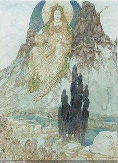 Gustav Adolf Mossa - Dans la pénombre crépusculaire des jours