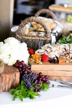 Cheese display Photography by picotteweddings.com Event Planning by brookekeegan.com Floral Design by elegant-by-design.com/  Read more - http://www.stylemepretty.com/2013/06/21/mission-viejo-wedding-from-brooke-keegan-weddings-and-events/