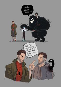Read Imagen 8 from the story Imagenes de Spiderman (Miles Morales x Peter B. Venom Comics, Marvel Comics, Hero Marvel, Funny Marvel Memes, Marvel Venom, Marvel Jokes, Dc Memes, Funny Comics, Venom Mcu