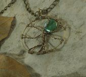 Druid Moon Tree of Life Wire-Wrapped Pendant Necklace Rainbow Crow's Nest #thecraftstar