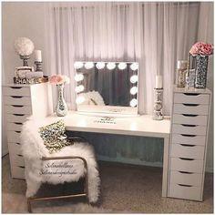 Vanities bedroom furniture vanity mirrors beauty room makeup rooms and glam diy .