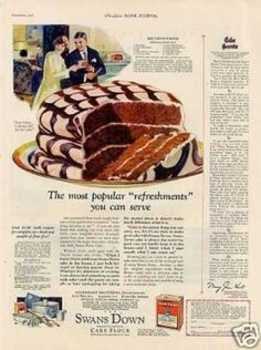 1926 Swans Down Cake Flour #1920s #food #thenuttypinner