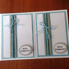 Sympathy cards - made by Melrose