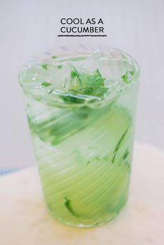 Cool as a Cucumber cocktail #recipe