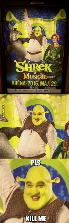 From Hungarian underground. How to scare children for life. #shrekislove #shrekislife