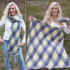 Argyle Super Scarf and Blanket Free Crochet Patterns