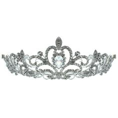 Kate Marie 'Nene' Rhinestone Filigree Crown Tiara with Hair Combs and other apparel, accessories and trends. Browse and shop related looks.