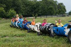 Barrel train 55 gallon drums ECO Center Fall Festival