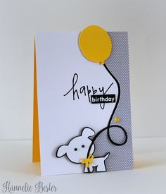 card with critters dog balloon #balloon Hannelie #279