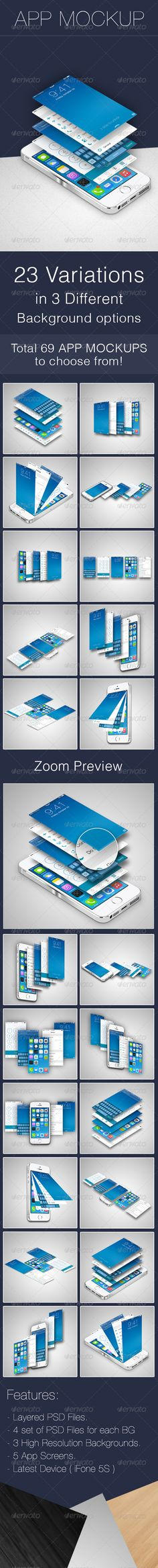 5S App Screen Mockup App Mockups — Photoshop PSD #iOS7 #mockup • Available here → https://graphicriver.net/item/5s-app-screen-mockup-app-mockups/5988063?ref=pxcr
