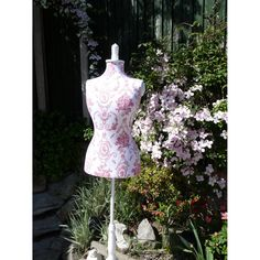 French Shabby Chic Vintage Style Wooden Raspberry Red Toile Tailors Dummy Mannequin: Amazon.co.uk: Kitchen & Home