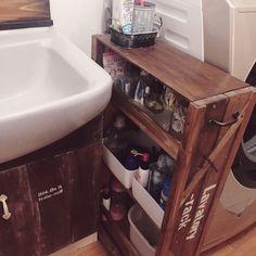 Bathroom/洗面所/DIY/隙間収納/収納アイデアのインテリア実例 - 2016-09-01 08:35:51 | RoomClip (ルームクリップ)