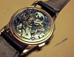 Old vintage chronograph - inside that is.