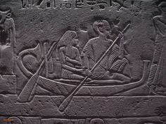 Pa-atenemheb and his wife in a boat. New Kingdom Tombs of Memphis